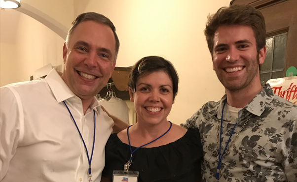 Lynd Matt, Susan DeSelms, and Trey Pratt on opening night of the 2017 UCCMA conference. Photo courtesy of Michele Hecht.
